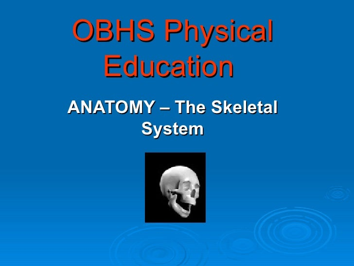 OBHS Physical Education ANATOMY – The Skeletal System