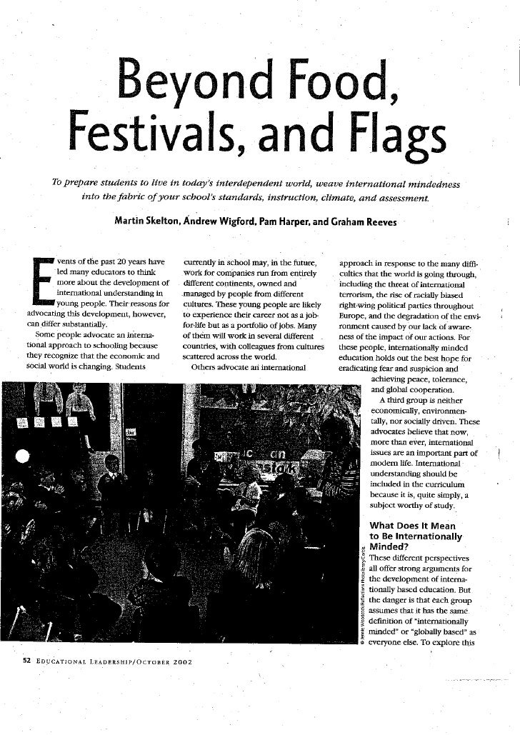Skelton - Beyond Food, Festivals And Flags