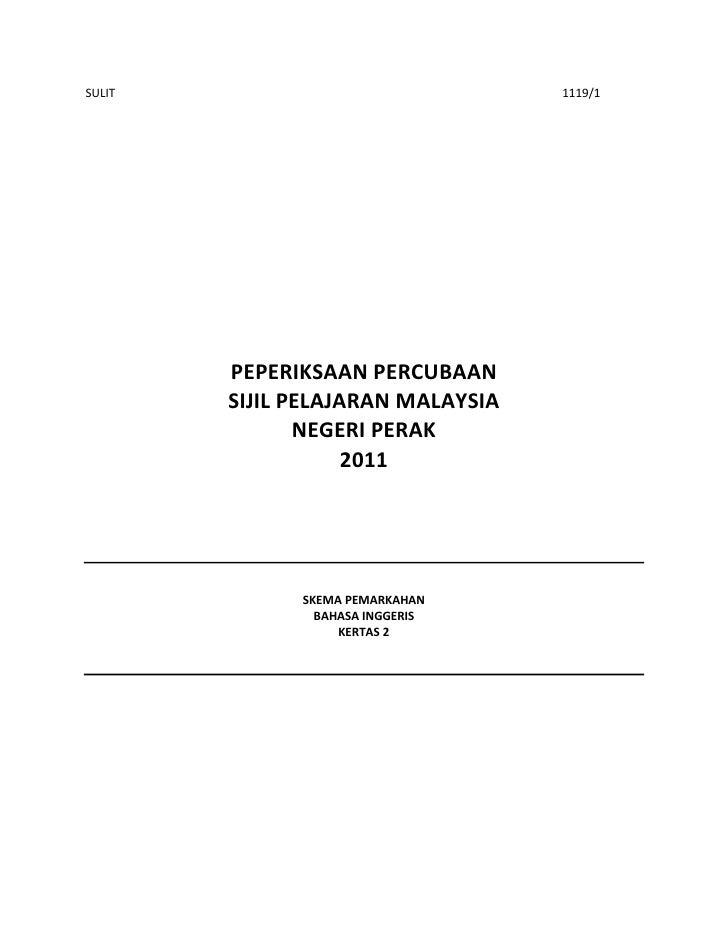 SULIT                              1119/1        PEPERIKSAAN PERCUBAAN        SIJIL PELAJARAN MALAYSIA               NEGER...