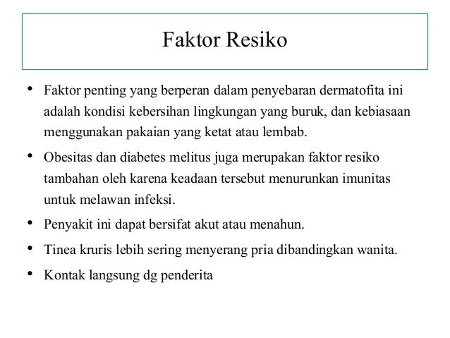 Faktor Risiko Diabetes Melitus