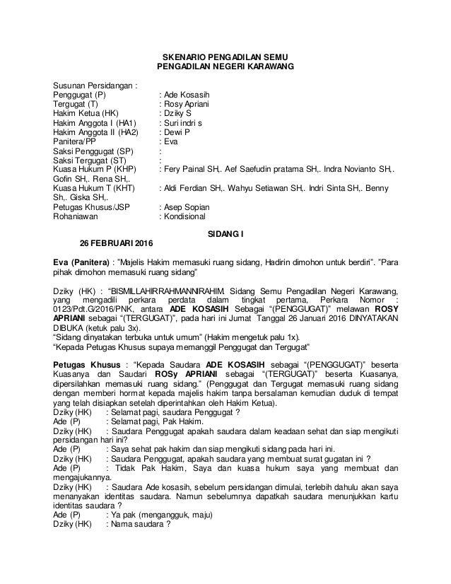 Skenario Pengadilan Semu11
