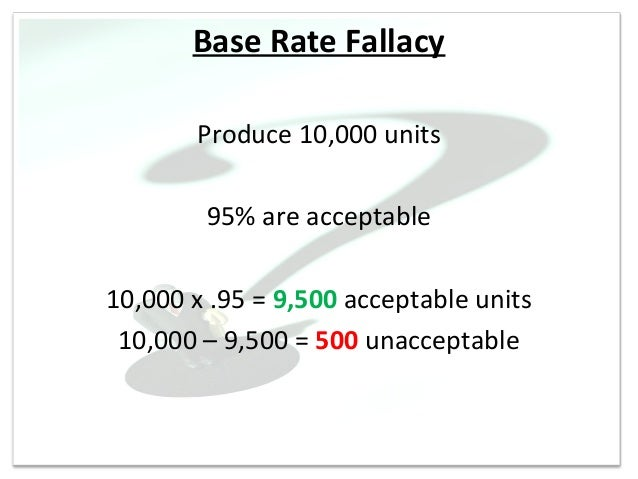 Base Rates and the Base Rate Fallacy: Definition, Examples
