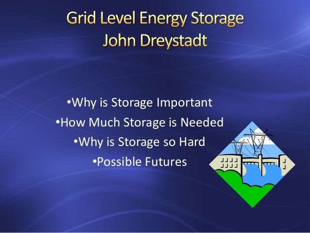 •Why is Storage Important •How Much Storage is Needed •Why is Storage so Hard •Possible Futures