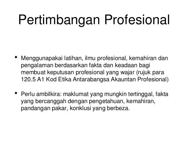 Skeptisisme dan Pertimbangan profesional Dalam Pengesanan Frod Slide 3