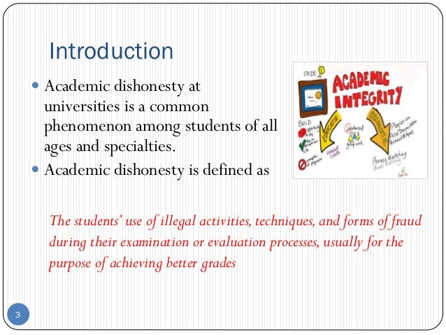 """an introduction and an analysis of the issue of cheating among students From an educator's perspective, the student's attempt to cheat in the manner   the magnitude of the problem of academic dishonesty has raised public concern  over this issue  this result led to their conclusion that """"peer disapproval is the  most important  appendix 2: figures of data analysis from questionnaire items."""