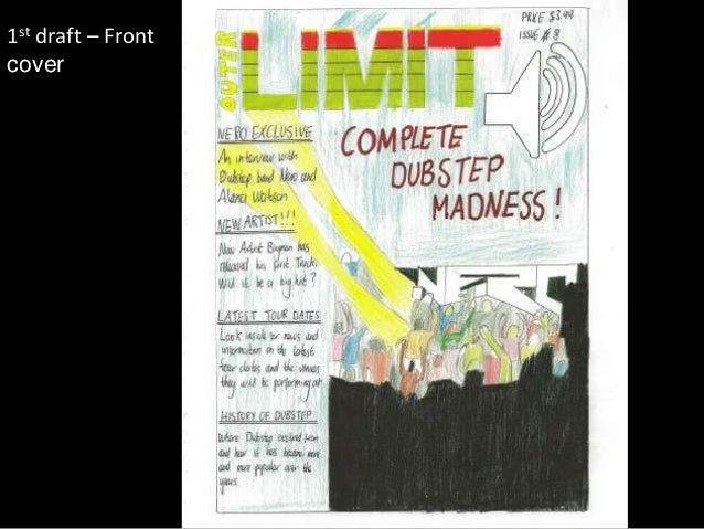 1st draft – Frontcover