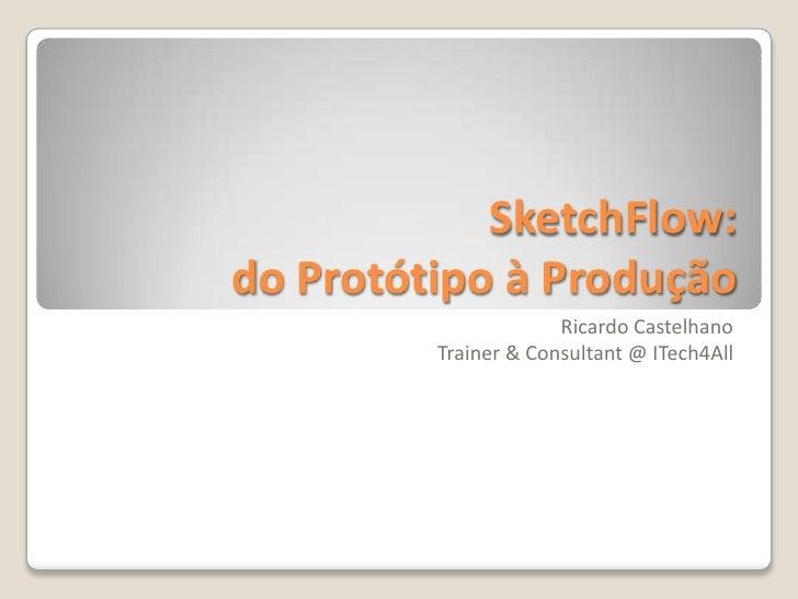 SketchFlow:do Protótipo à Produção<br />Ricardo CastelhanoTrainer & Consultant @ ITech4All<br />