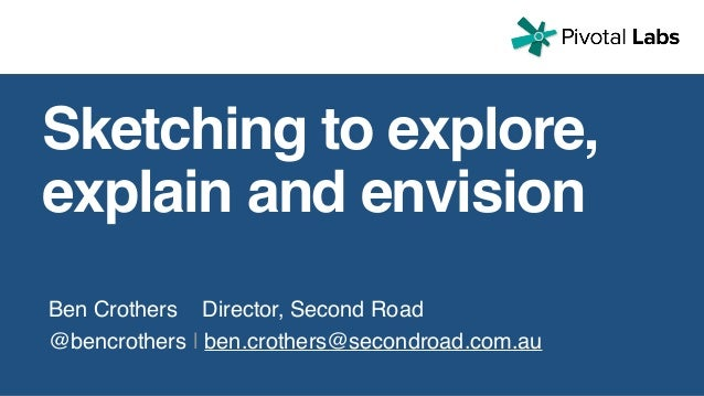 Ben Crothers Director, Second Road @bencrothers | ben.crothers@secondroad.com.au Sketching to explore, explain and envision