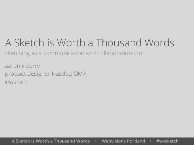 A Sketch is Worth a Thousand Wordssketching as a communication and collaboration toolaaron irizarryproduct designer Nasdaq...