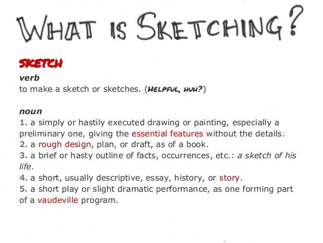 """.  """"a means whereby the designer could explore and communicate ideas."""" - Buxton, Sketching User Experiences"""