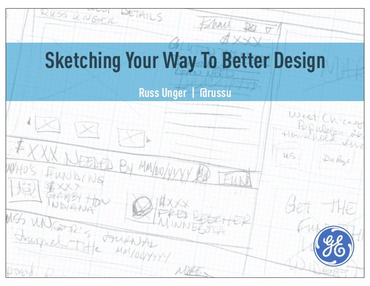 Sketching Your Way To Better Design           Russ Unger | @russu