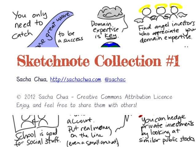 Sketchnote Collection #1Sacha Chua, http://sachachua.com, @sachac© 2012 Sacha Chua - Creative Commons Attribution LicenceE...