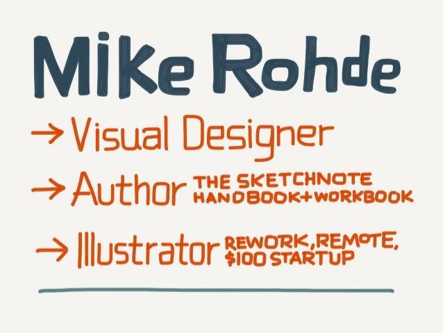 The Sketchnote Mini-Workshop Slide 2