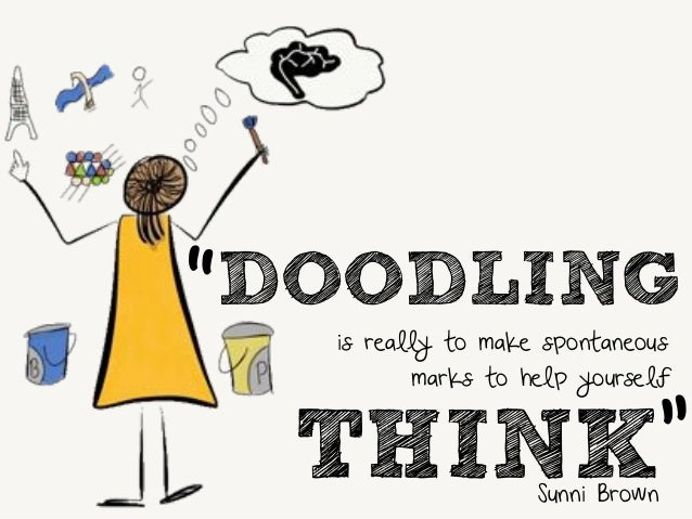 """DOODLING  is really to make spontaneous  """"  marks to help yourself  THINK  """"  Sunni Brown"""