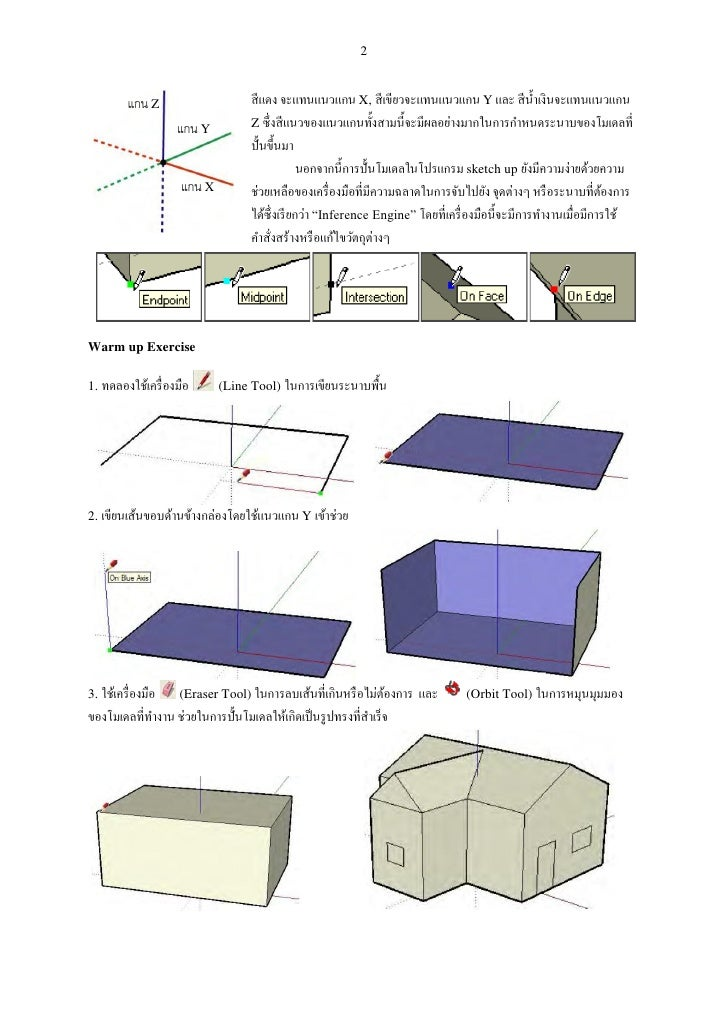 คู่มือ SketchUp Slide 2