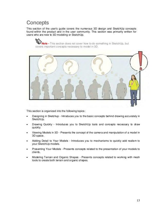 sketchup user guide rh slideshare net Ears Sketch Guide Faces Sketch Guide