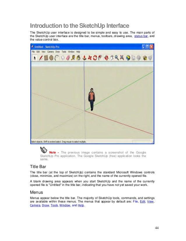 sketchup user guide rh slideshare net sketchup user guide pdf Beginer Guide for Sketch