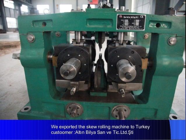 Steel Ball Skew Rolling Mill Machine