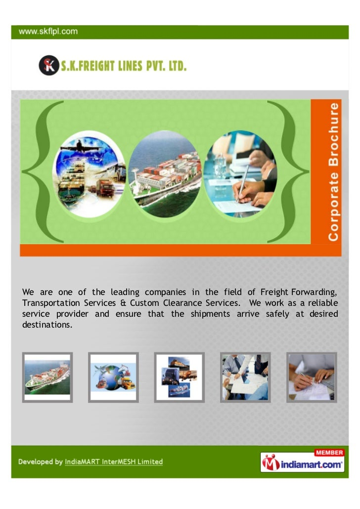 We are one of the leading companies in the field of Freight Forwarding,Transportation Services & Custom Clearance Services...