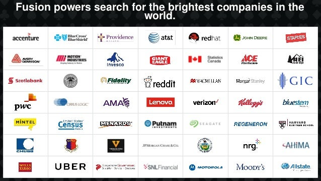 Fusion powers search for the brightest companies in the world.