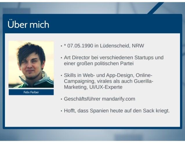 Uber mich  - * 07.05.1990 in Liidenscheid,  NRW  - Art Director bei verschiedenen Startups und einer groi3en politischen P...
