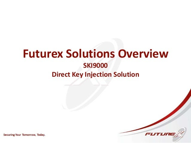 Futurex Solutions Overview SKI9000 Direct Key Injection Solution