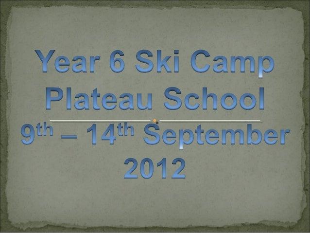 Ski Camp 2012 slideshow