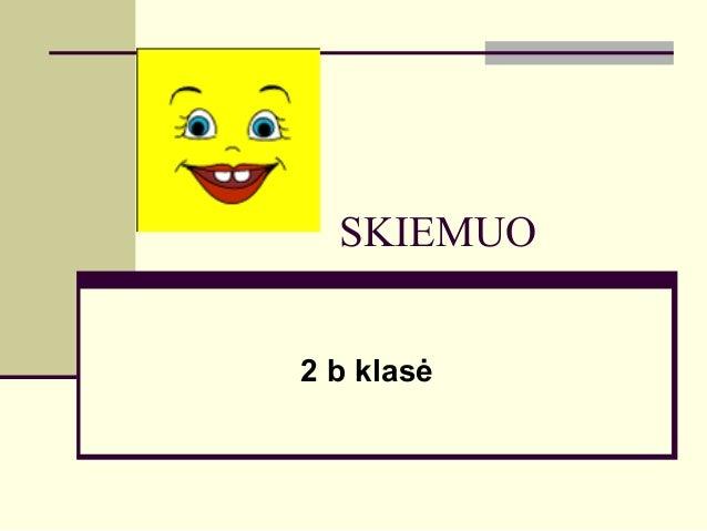 SKIEMUO 2 b klasė