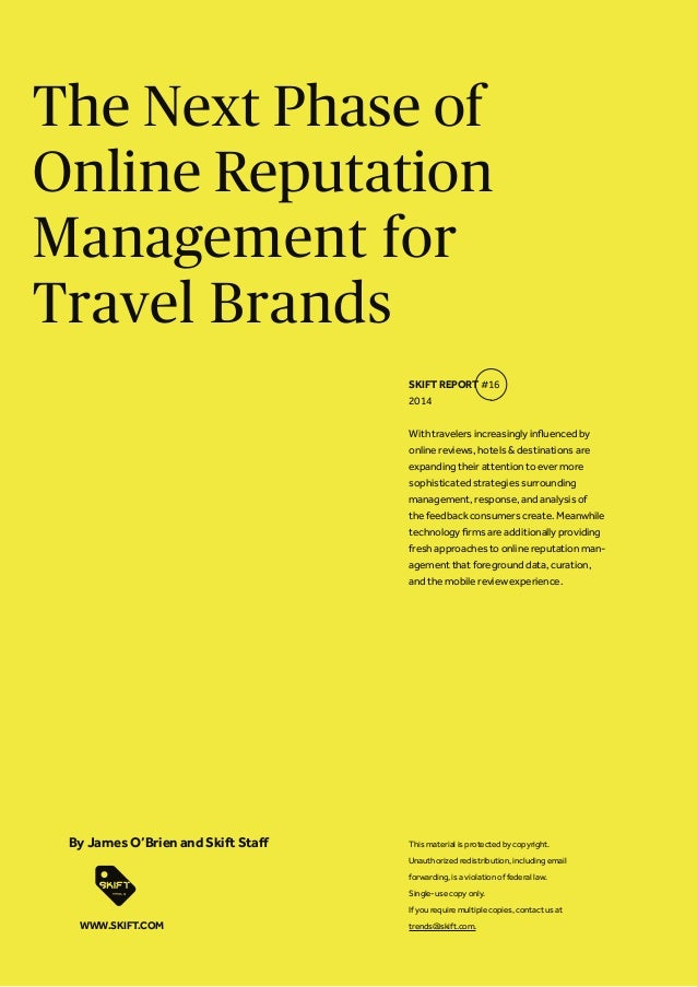 The Next Phase of Online Reputation Management for Travel Brands With travelers increasingly influenced by online reviews,...