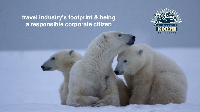 travel industry's footprint & being!  a responsible corporate citizen