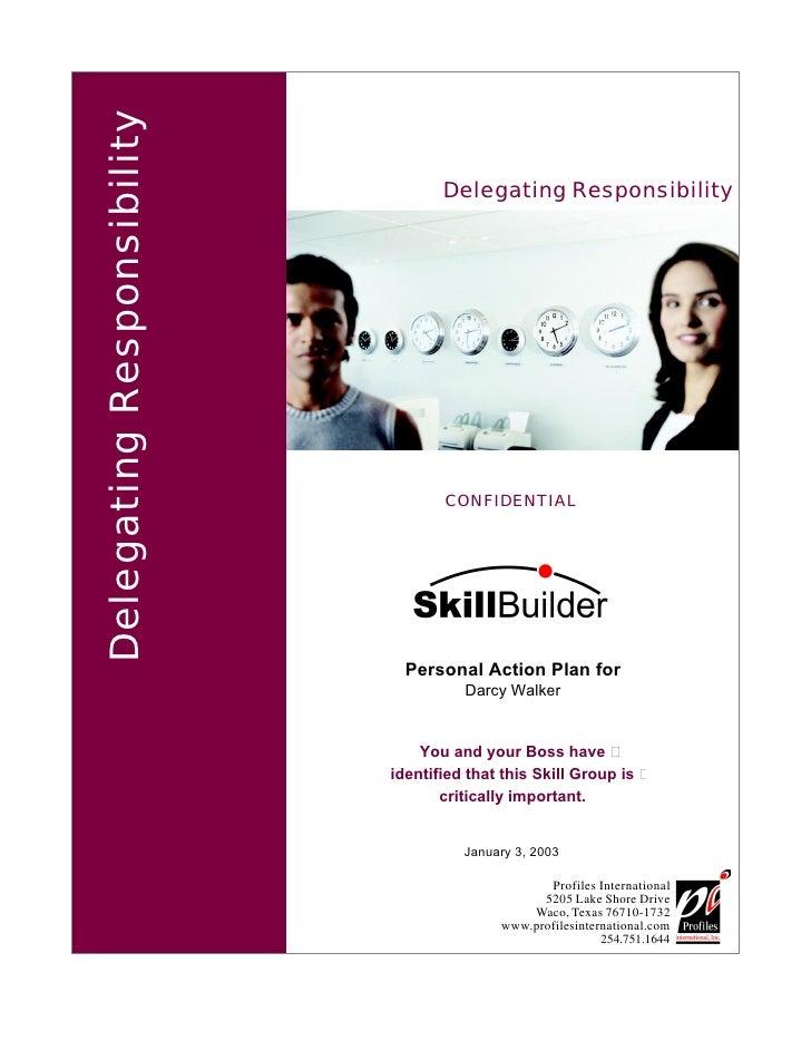 Delegating Responsibility                                    Delegating Responsibility                                    ...