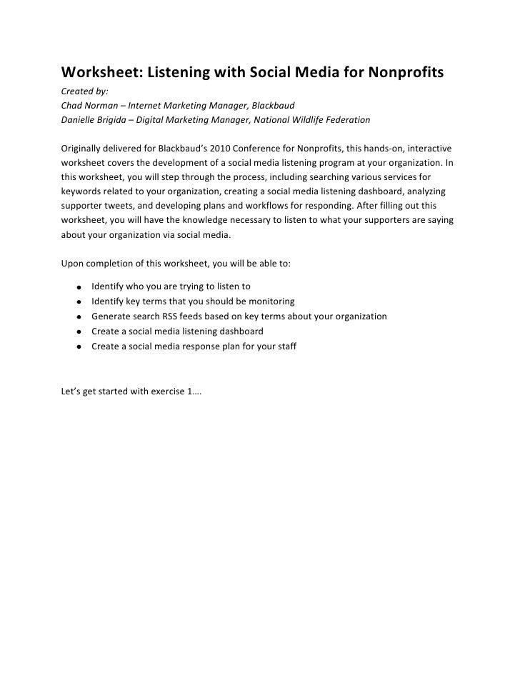 Skill Building: Listening with Social Media – Part 2<br />Chad Norman – Internet Marketing Manager, Blackbaud<br />Daniell...