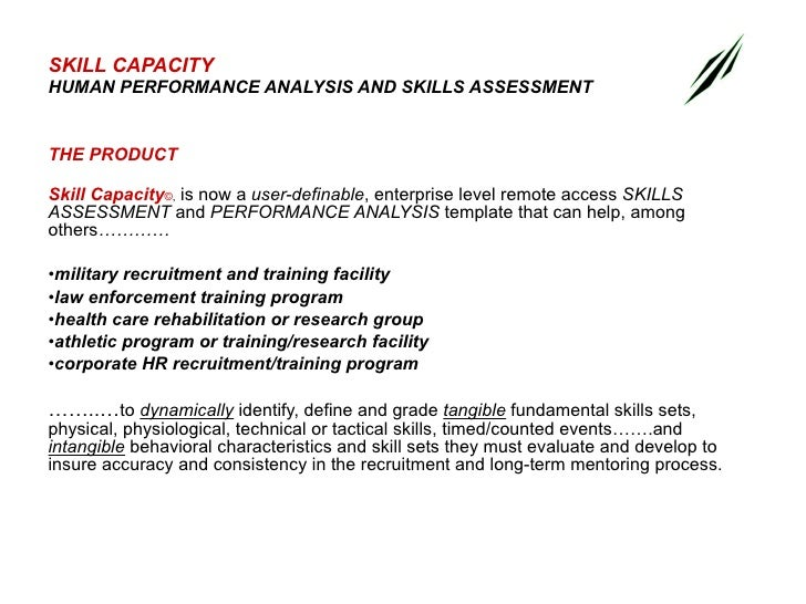 Skill Capacity, Sample Screens (L)