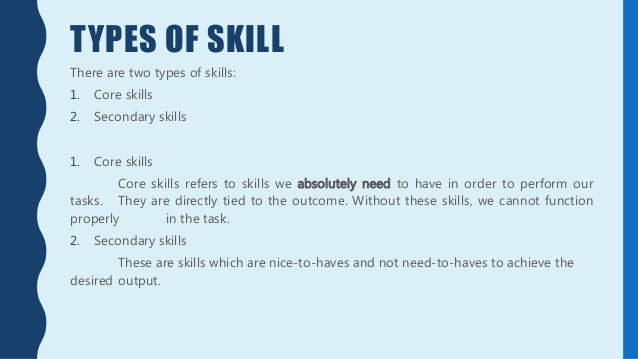 skill development for personal excellence slideshare