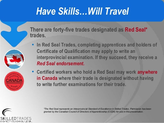 interprovincial red seal examination application canadian certified