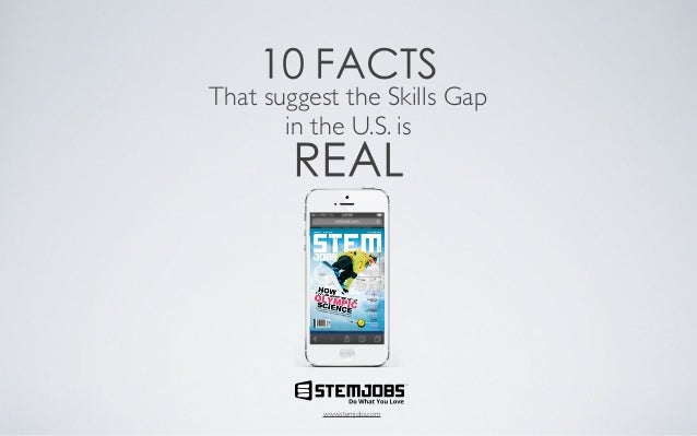 10 FACTS  That suggest the Skills Gap in the U.S. is  REAL  TM  www.stemjobs.com