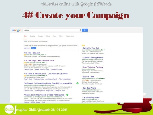 advertise online with google adwords  skill goulash