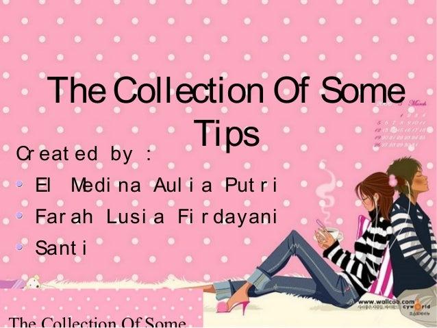 Kumpulan Tips Dalam Bahasa Inggris The Collection Of Some Tips