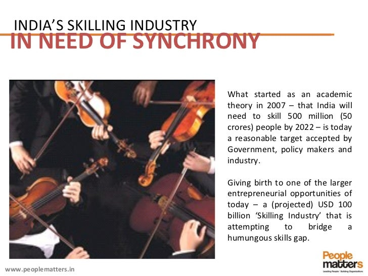 IN NEED OF SYNCHRONY What started as an academic theory in 2007 – that India will need to skill 500 million (50 crores) pe...