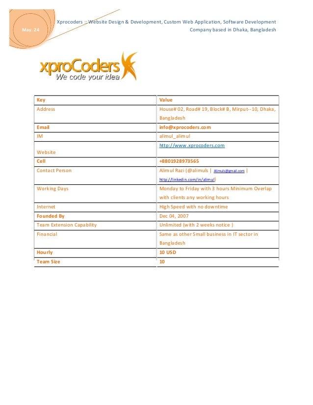 Skill Matrix : Xprocoders