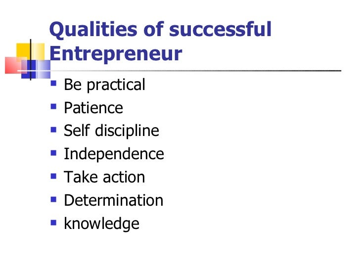 Skill of successful entrepreneur