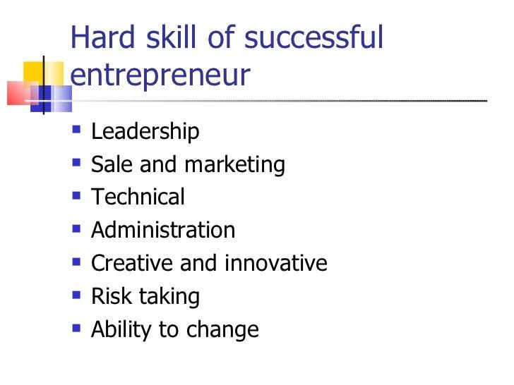 skill of successful entrepreneur