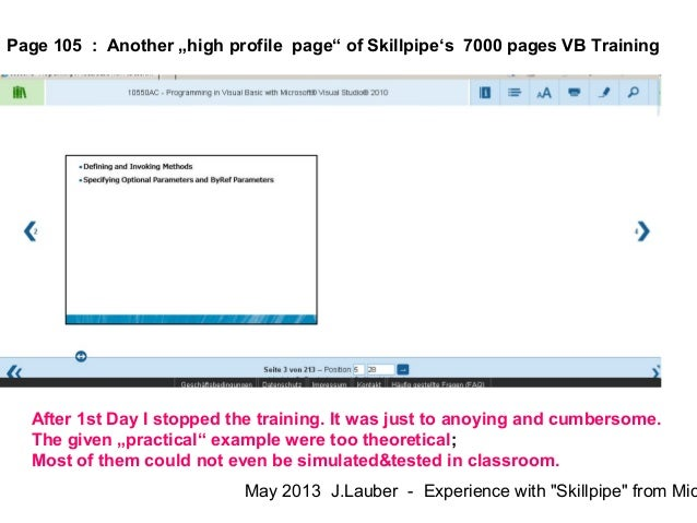 Skillpipe from Microsoft = Worst Case - Not Lean Learning