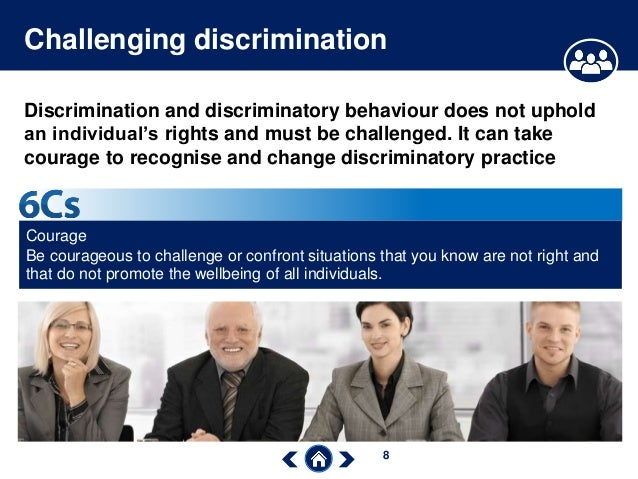 challenging discrimination Explains what you can do if you have a mental health problem and are discriminated against at work.