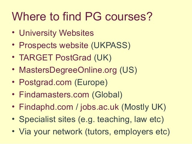 how to pay for postgraduate study