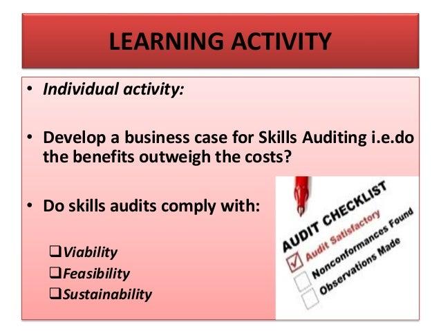 benefits of a skills audit