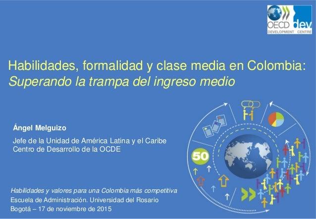 Habilidades y valores para una Colombia más competitiva Escuela de Administración. Universidad del Rosario Bogotá – 17 de ...