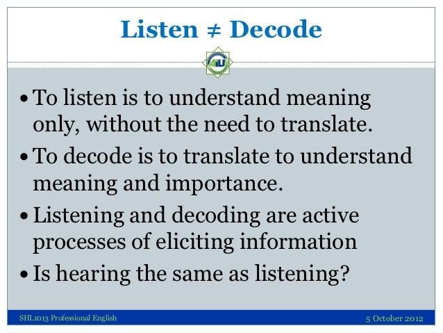 Decoding Skills - Listening Slide 2