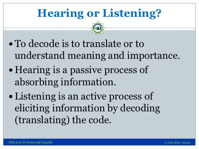 Decoding Skills - Listening Slide 3