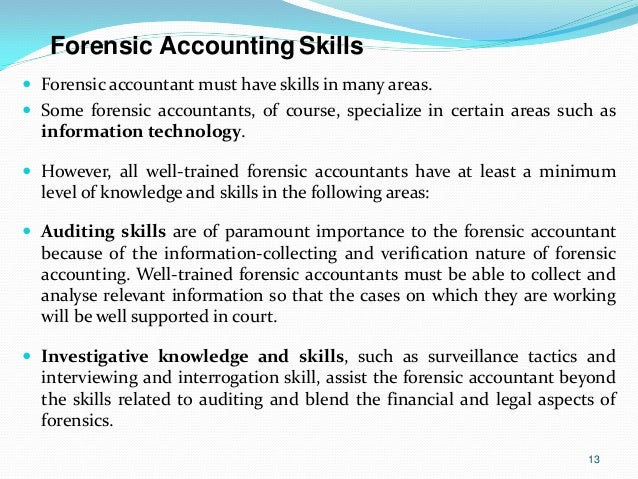 accounting skills for resume